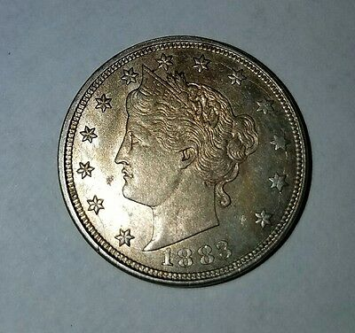 1883 5C No CENTS Liberty Nickel