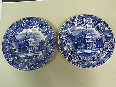 Wedgwood Blue Boston Town House Townhouse Plate (2)