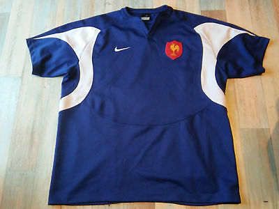 Maillot RUGBY NIKE EQUIPE FRANCE FFR TAILLE/XXL/D8 TBE