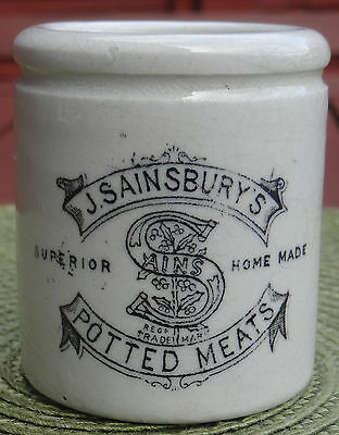 Advertising Print:j.sainsbury's.potted Meat's Pictorial Trade Mark Crock Pot.