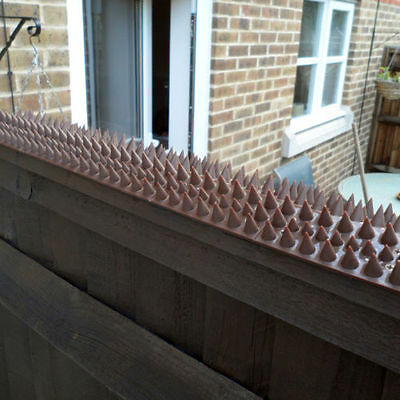 WALL & FENCE SPIKES x 4.5 mts CAT BIRD REPELLENT INTRUDER DETERRENT ANTI CLIMB
