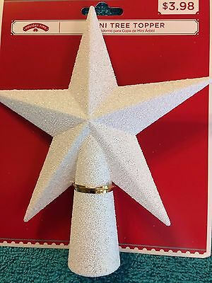 Holiday Time:  White  Mini Tree Topper Star