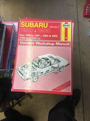 Haynes Subaru 1600 & 1800 Manual 79-87 Very Good Condition