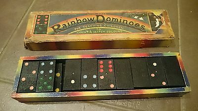 Vintage Rainbow Dominoes - British Made in England