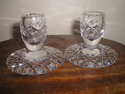 clear glass pair of candlestick