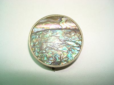 Vintage Mexican Pill Box with Abalone