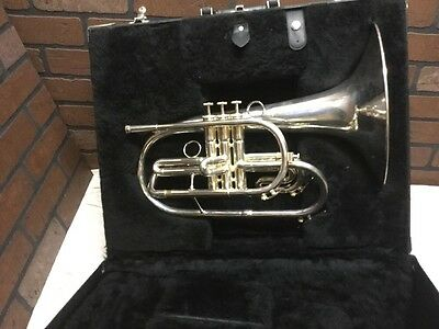 Accent USA Marching Mellophone - key F - With Case - Nice looking (stock#258)
