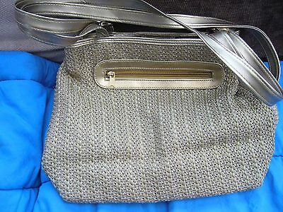 Gold Hand Bag Approx 13inches W X 10 1/2inches H