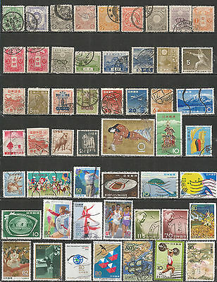 Japan from 1883 year nice collection used stamps