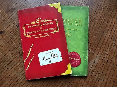 Fantastic Beasts and Where To Find Them & Quidditch JK Rowling Book 1st Edition