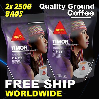 500g 1.1lb Quality Portugal Ground Coffee. 2x 250g Bags 8.8oz from TIMOR Delta
