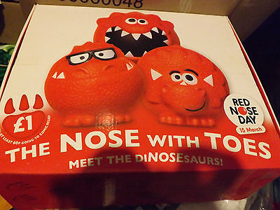 Red Nose Comic Relief wholesale / shop display box of 60 + 60 loose brand new