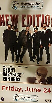 """Extremely Rare""""new Edition""""w/babyface-Vinyl Banner/poster Proof"""