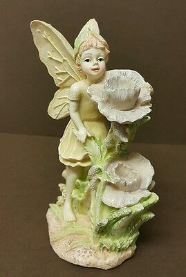 Vintage Large FAIRIE With Flowers Fantasy Resin  Figurine Ornament--H: 14,5 cm