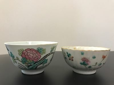 Ching Dynasty ( CH'ING DYNASTY T'UNG-CHIH )(Tongzhi) 2 Porcelain Bowls