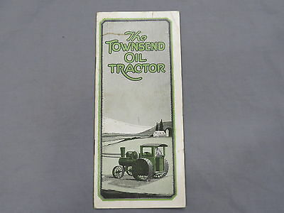 Vintage TOWNSEND Oil Tractor sales Brochure 1910's RARE!