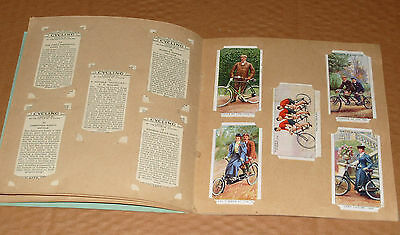 John Player Cigarettes Cycling Bicycles Complete 50 Cards Set 1939 in Ablum