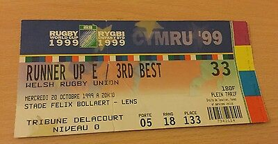 Rugby World Cup 99 Runner Up E  3Rd Best Ticket