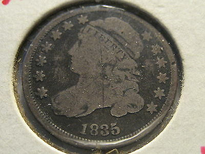 1835 Capped Bust Dime Scratches