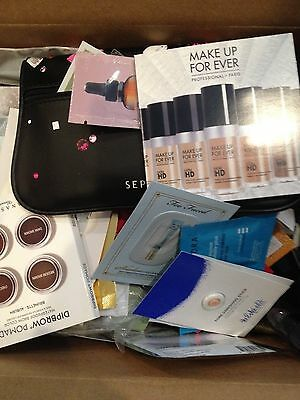 Lot of 20 Deluxe & Sample High End Beauty with New Ipsy or Sephora Makeup Bag