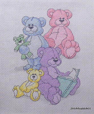 NEW COMPLETED Cross Stitch Storytime - LOVELY BABY SAMPLER/CHRISTENING GIFT