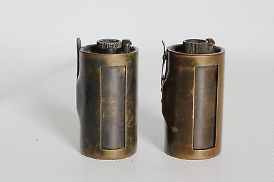 2 x BRASS 35 MM FILM CARTRIDGES FOR EARLY LEICA TYPE CAMERA (USED)