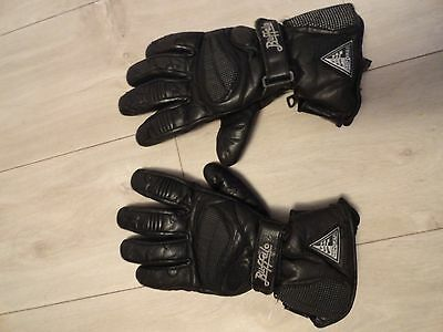 Buffalo leather waterproof thermal motorcycle gloves size M