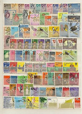 Singapore 1948-49 Kgvi Reign Complete Sg1/36 Used Inc Rsw Cat £150