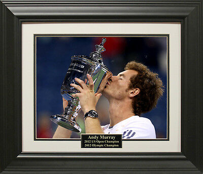 Andy Murray 2012 US Open Photo Framed