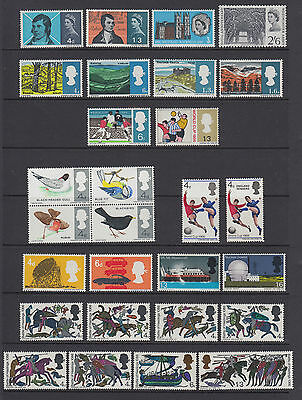 Great Britain GB 1966 QEII Stamps Mint Never Hinged MNH SG685-712