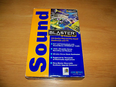 Brand New and Boxed Creative Sound Blaster 16 Value PnP CT2980 ISA Sound Card