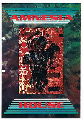 AMNESIA HOUSE Rave Flyer Flyers 7/8/92 A4 Rage Leicester