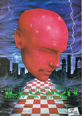 ILLUSION Rave Flyer Flyers A4 30/10/92 The Crest Leysdown Isle of Sheppey