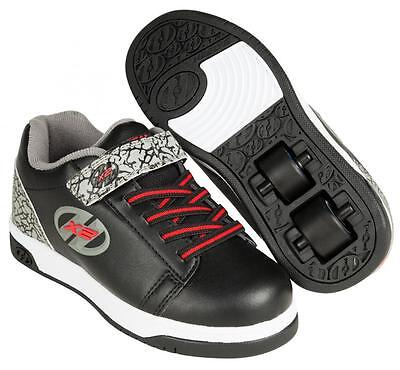 New 2017 Heelys Dual Up Black Grey X2 Boys In-Line Roller Shoes Boots Trainers