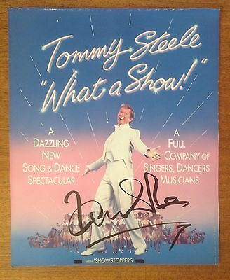 Original Hand Signed Tommy Steele Poster