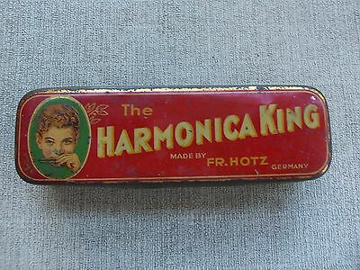 Vintage Harmonica King Metal CASE ONLY F.R. Hotz Germany