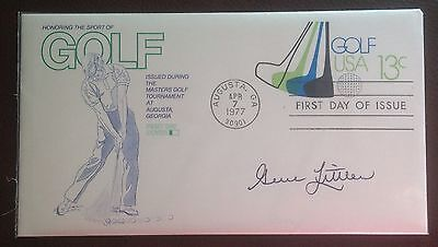 First Day Cover Hand signed by Gene Littler