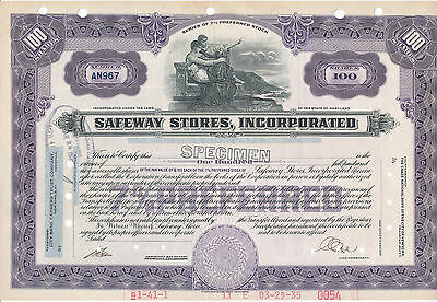 Safeway Stores Incorporated 7% Preferred Stock Certificate Specimen