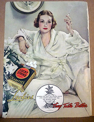 "Vintage Magazine Print Advertising - from ""Outdoor Life"" May 1935 - Lucky Strike"