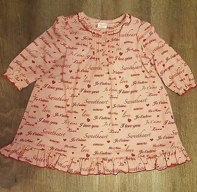 Janie and Jack girls size 12 month 18 month nightgown pajamas pink