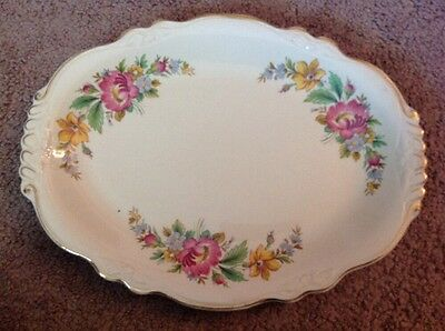 Homer Laughlin Virginia Rose China Platter 11""