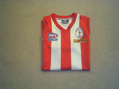 Griffith Moorooka Roosters Official Afl Queensland Vintage No 4 Jersey V Rare  L