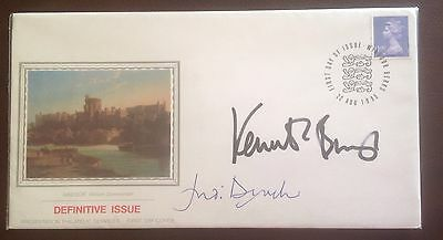 First Day Cover hand signed by Kenneth Brannagh and Judi Dench