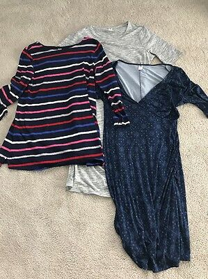 Old Navy Maternity Mixed Lot M 2 Dresses And Shirt
