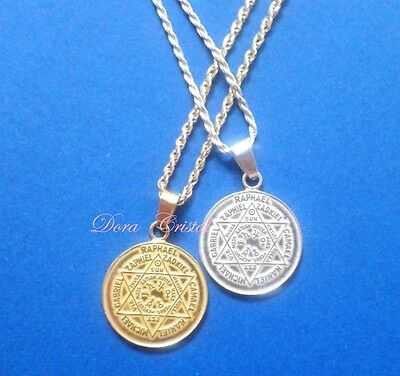 Seven Powerful Angels talisman pendant * pure sterling silver or gold plated *