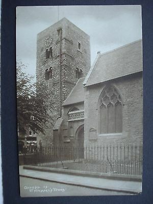 Vintage Unused Black & White Post Card St Michael's Tower Oxford