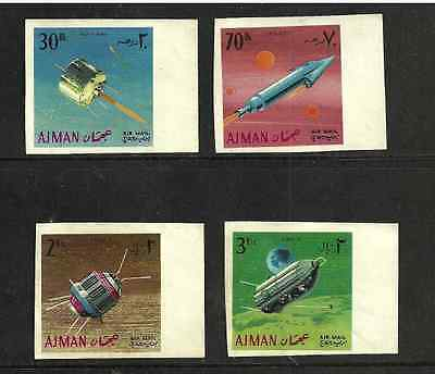 Ajman Postal Issue - Mint Air Mail Stamps- Space Research - Satellites - 1968