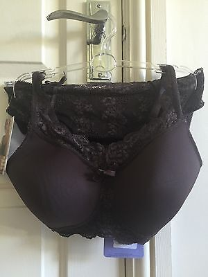 Royce, Chocolate Mousse, Mastectomy Bra And Matching Brief Set, 36A, Brown