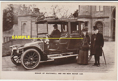 Southwell C1910 Real Photo Close Up Dorset Motor Car & Bishop of Southwell