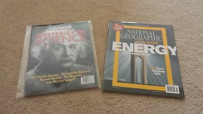Special Historical Two Collector Magazines Albert Einstein & National Geographic